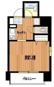 新富町駅 徒歩7分2階Fの間取り画像