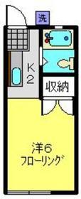 近藤ハイツ1階Fの間取り画像