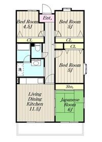 ブランニュー別所14階Fの間取り画像
