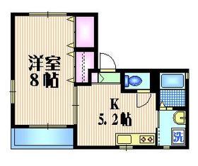 MAISON OGINO2階Fの間取り画像