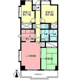 ビューフォート湘南4階Fの間取り画像