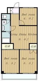 堀江ビル3階Fの間取り画像