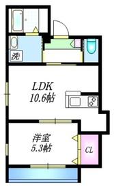 ラヴィクレール2階Fの間取り画像