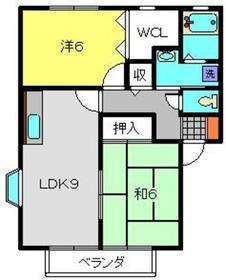 メゾンドールD2階Fの間取り画像