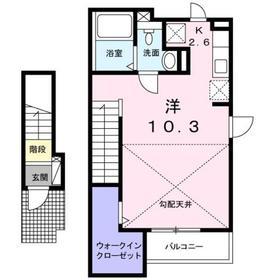 豊田駅 徒歩20分2階Fの間取り画像