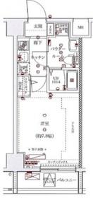 スパシエソリデ横浜鶴見3階Fの間取り画像