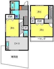 シャンス東寺尾中台11-32階Fの間取り画像
