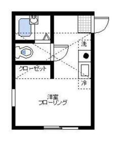 ハーミット・クラブハウス・バルカ1階Fの間取り画像