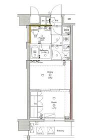 ラグジュアリーアパートメント横浜黄金町4階Fの間取り画像