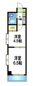 エステート桜2階Fの間取り画像