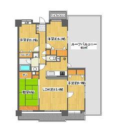 シンフォートピア高幡Ⅱ6階Fの間取り画像
