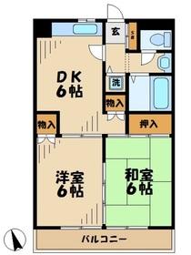 サンハイムタチバナC3階Fの間取り画像
