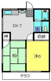 瀬戸ハイツ1階Fの間取り画像