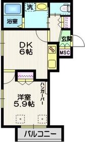 LUCK MAGOME2階Fの間取り画像