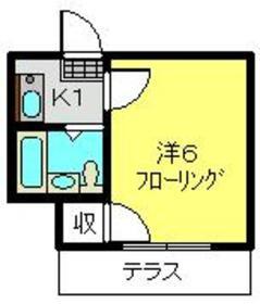 大倉山駅 徒歩12分2階Fの間取り画像