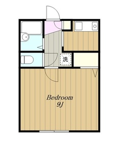 美倉ハウス2階Fの間取り画像