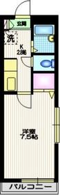 ドミール・S2階Fの間取り画像