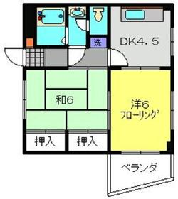 元住吉駅 徒歩12分3階Fの間取り画像