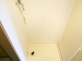 室内に洗濯機置場が完備されてます!