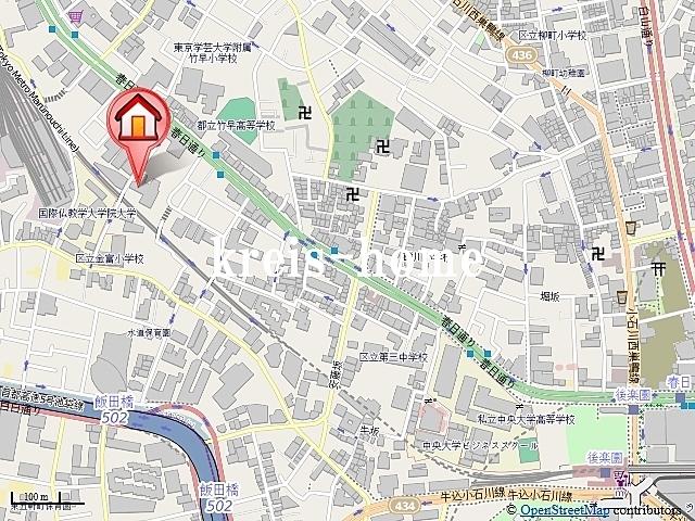 マチュリティ小石川案内図