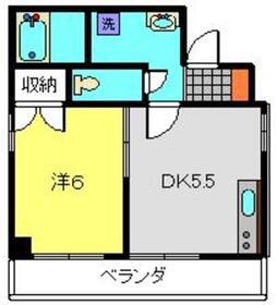 鈴木マンション4階Fの間取り画像