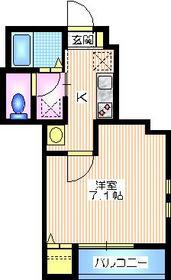 上條メゾン1階Fの間取り画像