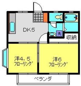 セントバレーA棟2階Fの間取り画像