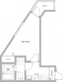 アイリス川崎3階Fの間取り画像