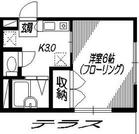 メゾン ド パクトーレ1階Fの間取り画像
