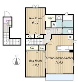 ヴァンベール2階Fの間取り画像