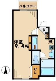ミヌシモツキ1階Fの間取り画像