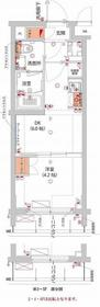 (仮)武蔵小杉フォレストスクエアレジデンス5階Fの間取り画像