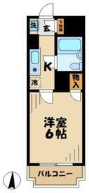 クライス伊藤4階Fの間取り画像
