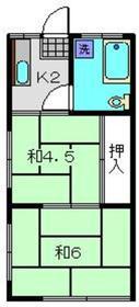 綱島駅 徒歩19分2階Fの間取り画像