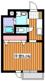 地下鉄赤塚駅 徒歩10分2階Fの間取り画像