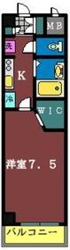 ヴィラ・ロクロー2階Fの間取り画像