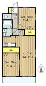 ビューヒルズIII3階Fの間取り画像
