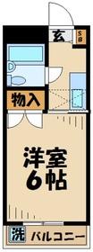ハイランド伊藤1階Fの間取り画像