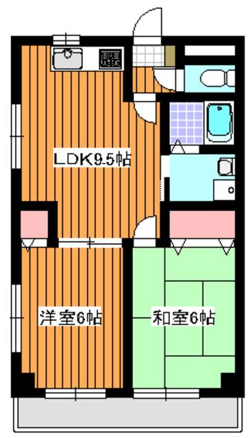下赤塚駅 徒歩14分間取図