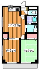 下赤塚駅 徒歩15分3階Fの間取り画像