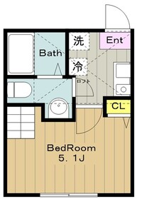 ルピナス1階Fの間取り画像