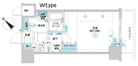 フェニックス横濱関内BAY GAIA8階Fの間取り画像