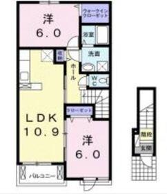 セレーノ A2階Fの間取り画像