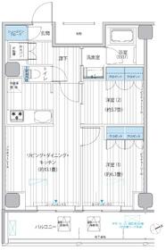 ヒューリック浅草橋江戸通12階Fの間取り画像