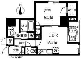 オーヴェルク-Ⅱ8階Fの間取り画像