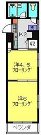 新川崎駅 徒歩4分2階Fの間取り画像