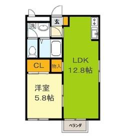 アムール20112階Fの間取り画像