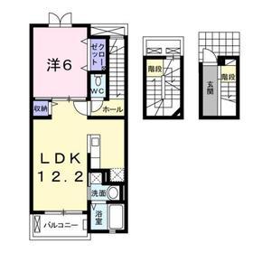 アズーリ3階Fの間取り画像