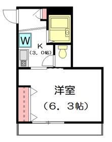 ジュネスナカノ2階Fの間取り画像
