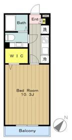 ウィステリア1階Fの間取り画像